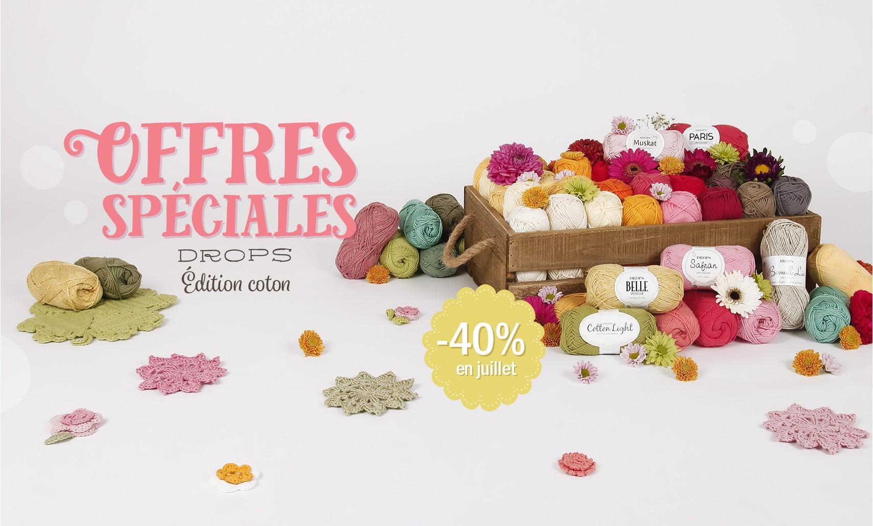 -40% sur les cotons Drops